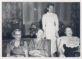 Alice Cowdry, Eva Pearson, Mrs. J. Ernest Ayre, and Mrs. Sykes.