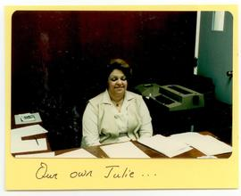 Woman working at her desk, Washington University School of Medicine, Program in Occupational Ther...