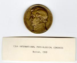 13th International Physiological Congress Medallion.