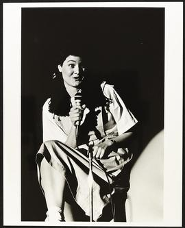 Unidentified student performing as part of the Freshmen Class Show, Washington University School ...