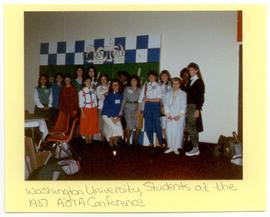Group portrait of Washington University Occupational Therapy students at an American Occupational...