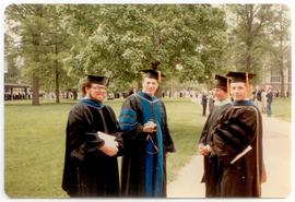 Four men wearing academic robes, Washington University School of Medicine, Program in Occupationa...