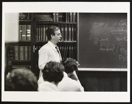 Dr. William Catalona giving a lecture, Department of Surgery, Washington University School of Med...