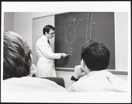 Dr. H. William Schnaper giving a lecture, Department of Pediatrics, Washington University School ...