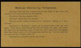 """Medical Advice by Telephone."""
