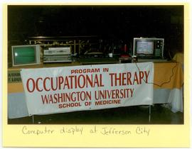 View of a Washington University School of Medicine, Program in Occupational Therapy computer disp...