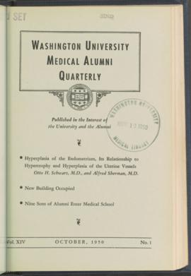 Washington University Medical Alumni Quarterly, October 1950