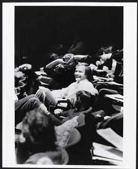 Students in a lecture hall, Washington University School of Medicine.
