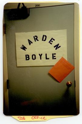 View of the door to Mary Ann Boyle's office, Washington University School of Medicine, Program in...