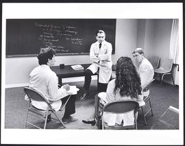 Dr. Samuel B. Guze with a group of students, Department of Psychiatry, Washington University Scho...