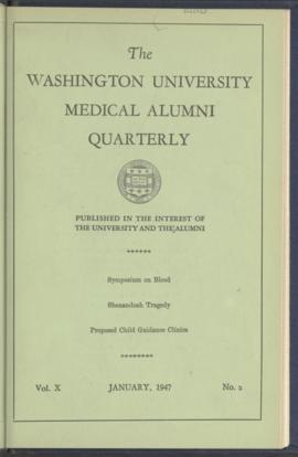 Washington University Medical Alumni Quarterly, January 1947
