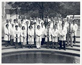 Group portrait of the Washington University School of Medicine Department of Obstetrics and Gynec...