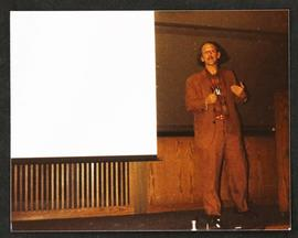 Eugene Garfield giving a lecture.