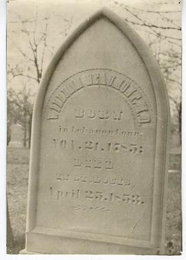 William Beaumont's gravestone, Bellefontaine Cemetary, St. Louis, Missouri.