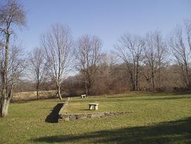 View of the original site of William Beaumont's house, Lebanon, Connecticut.