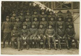Group portrait of Base Hospital 21 officers.