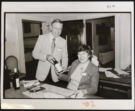 Robert C. Drews and Meredith Payne, Alumni Phonathon.
