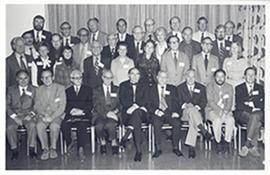 Group portrait of delegates to a Symposium on Enzyme Regulation, Indianapolis, Indianna.