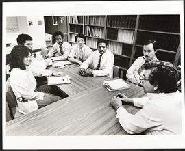 Dr. Louis Avioli with a group of students, Department of Medicine, Washington University School o...