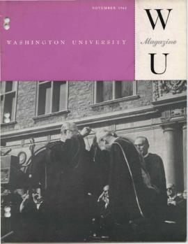 Washington University Magazine, V32, N01, November 1962.