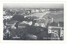 Postcard depicting the view from Malbar Hill, Bombay, India.