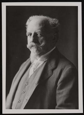 Studio portrait of Adolphus Busch.