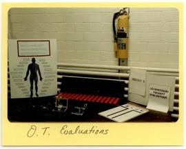 Display of occupational therapy evaluation materials, Washington University School of Medicine, P...