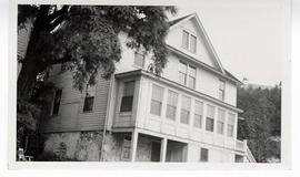 Exterior view of the fur trading post where Alexis St. Martin was accidentally shot, Mackinac Isl...