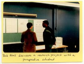 Bob Almli discussing a research project with a prospective student, Washington University School ...