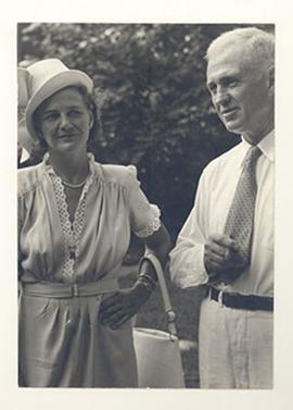 Alice and E.V. Cowdry in semi-formal dress.