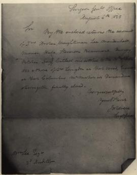 Joseph Lovell, Surgeon General's Office [Washington, DC] to William Lee, Second Auditor regarding...