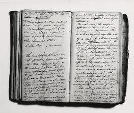 View of the notebook used by William Beaumont to record notes regarding the Alexis St. Martin case.