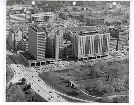 Aerial view of Washington University Medical Center looking north.
