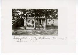 Exterior view of the home where William Beaumont was born, Lebanon, Connecticut.