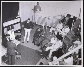 Students watching a lecture in the third floor old clinic ampitheater, Barnes Hospital, Washingto...