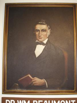 Portrait of William Beaumont in Fort Crawford, Prairie du Chien, Wisconsin.