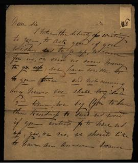 St. Martin [Berthier, Canada] to W. Beaumont [Saint Louis, MO] regarding: request for money. Unda...