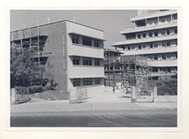 Exterior view of Tate Memorial Hospital, Mumbai, India.