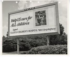 Billboard promoting St. Louis Children's Hospital.