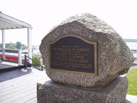 William Beaumont memorial plaque, Fort Mackinac, Michigan.