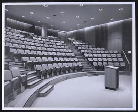 Interior view of Clopton Auditorium, Wohl Clinics, Washington University School of Medicine.