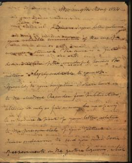 Joseph Lovell, Surgeon General [Washington, DC] to W. Beaumont [Mackinac, MI] regarding: case his...
