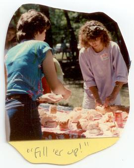 Scene from a Washington University Department of Occupational Therapy picnic.