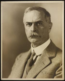 Studio portrait of Karl Landsteiner.