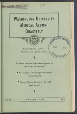 Washington University Medical Alumni Quarterly, January 1949