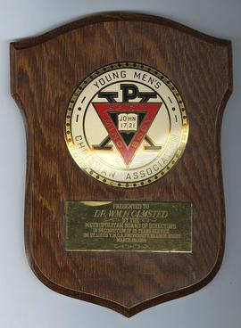 25 Years of Service Award Plaque, Young Men's Christian Association, St. Louis Branch.