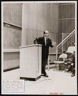 John V. Basmajian speaking at the 15th Robert J. Terry Lecture.