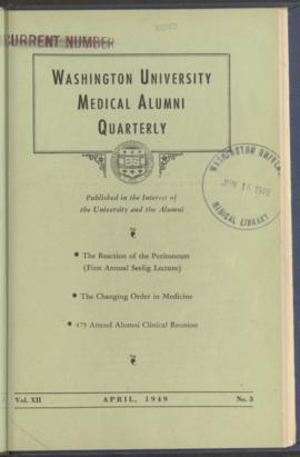 Washington University Medical Alumni Quarterly, April 1949