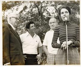 C. Alvin Tolin, Lee Trevino, Bob Hope, and Julie Nixon Eisenhower at a Greater St. Louis Golf Cla...