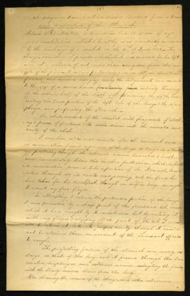 W. Beaumont, Surgeon, U.S.A. [Ft. Niagara, NY] to Joseph Lovell, Surgeon General [Washington, DC]...